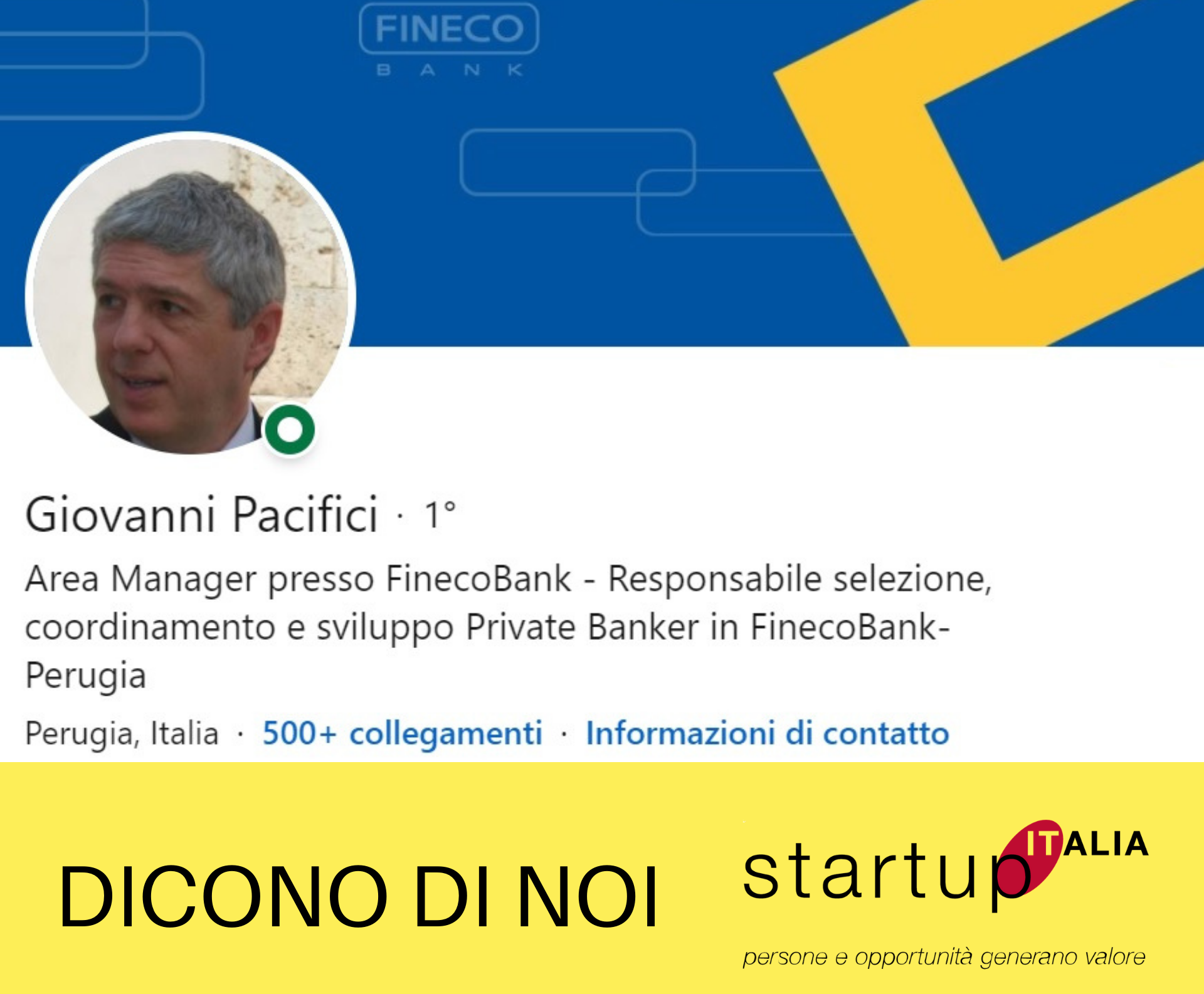 Referenza Pacifici Giovanni – Private Banker Fineco Bank