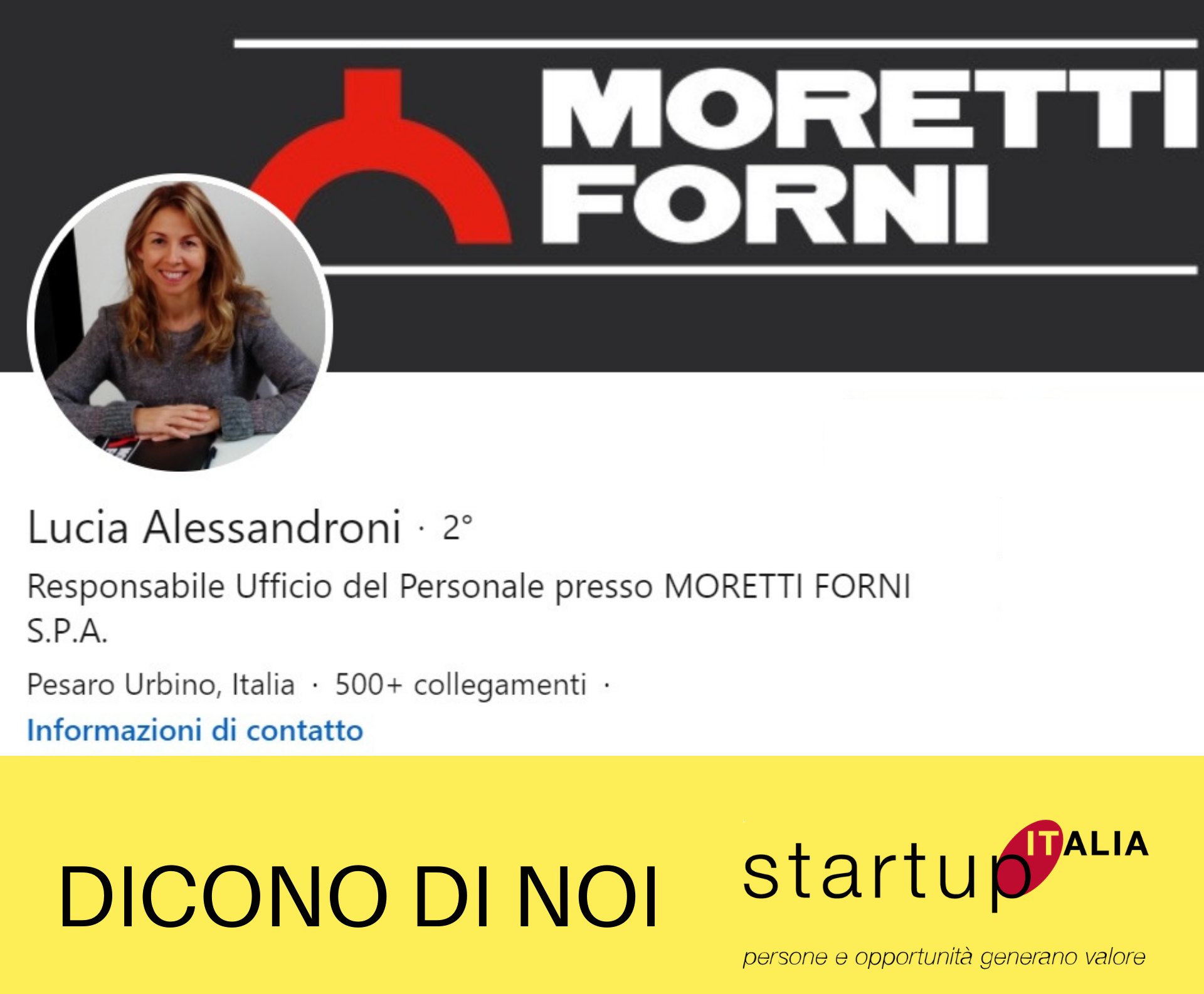 Referenza Lucia Alessandroni – Moretti Forni SpA