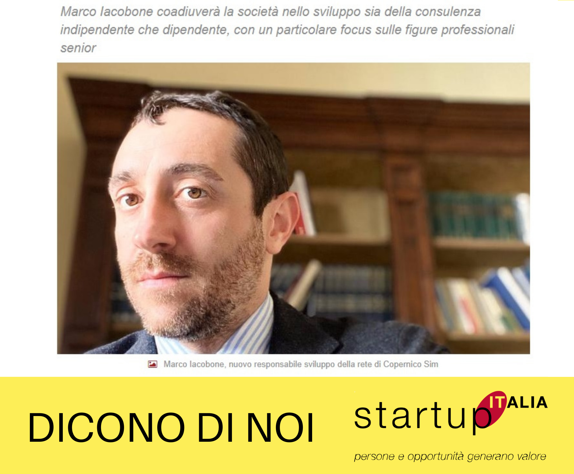 referenze Startup Italia - Marco Iacobone