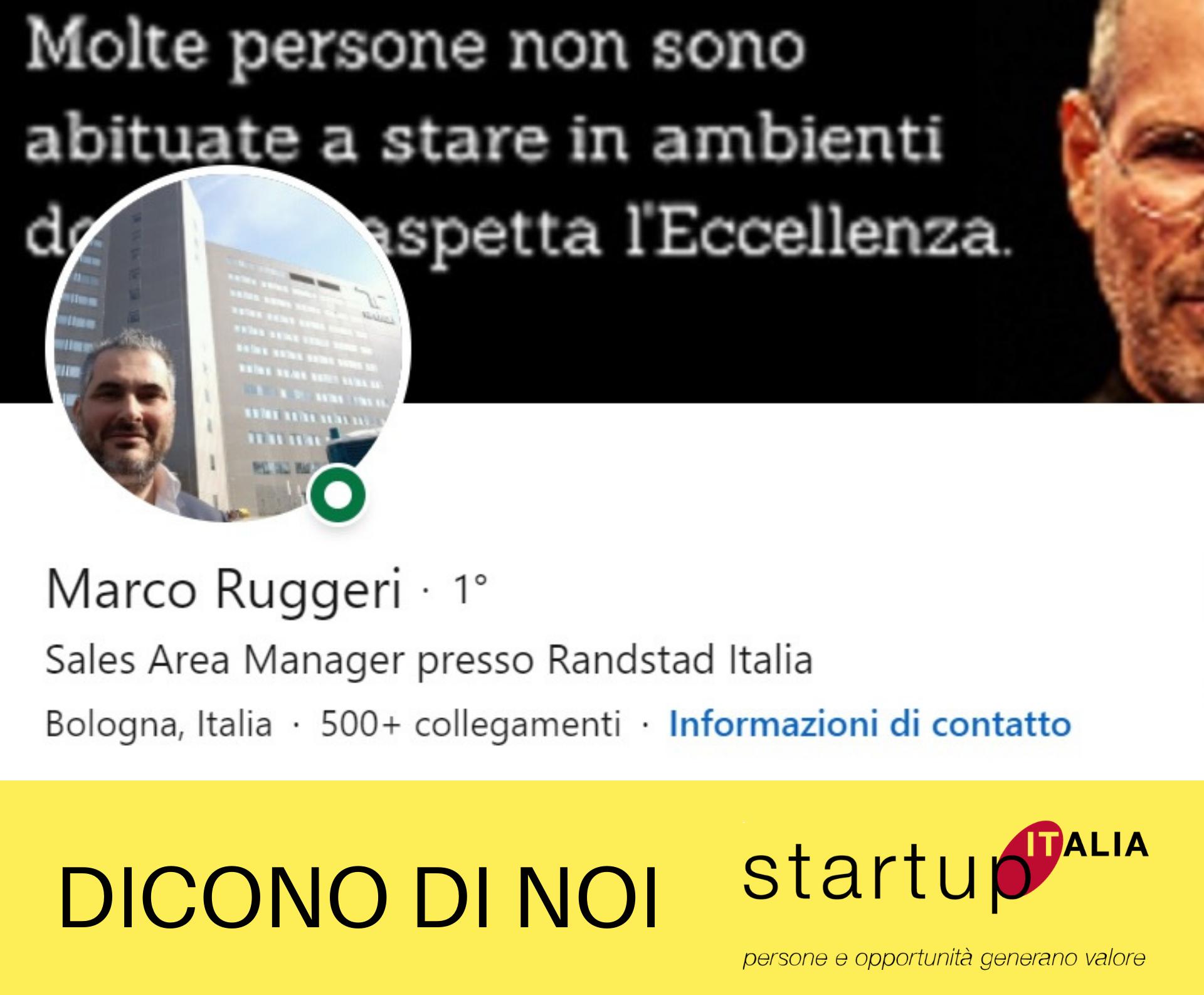 referenze Startup Italia - Marco Ruggeri