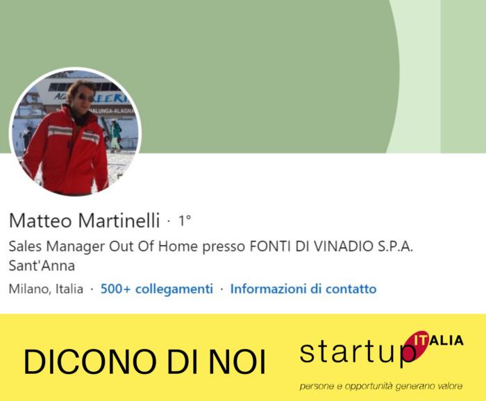 referenze Startup Italia - Matteo Martinelli