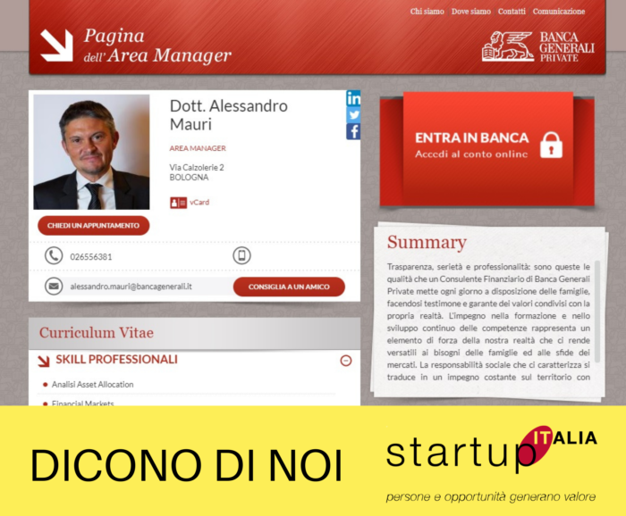 referenze Startup Italia - Alessandro Mauri