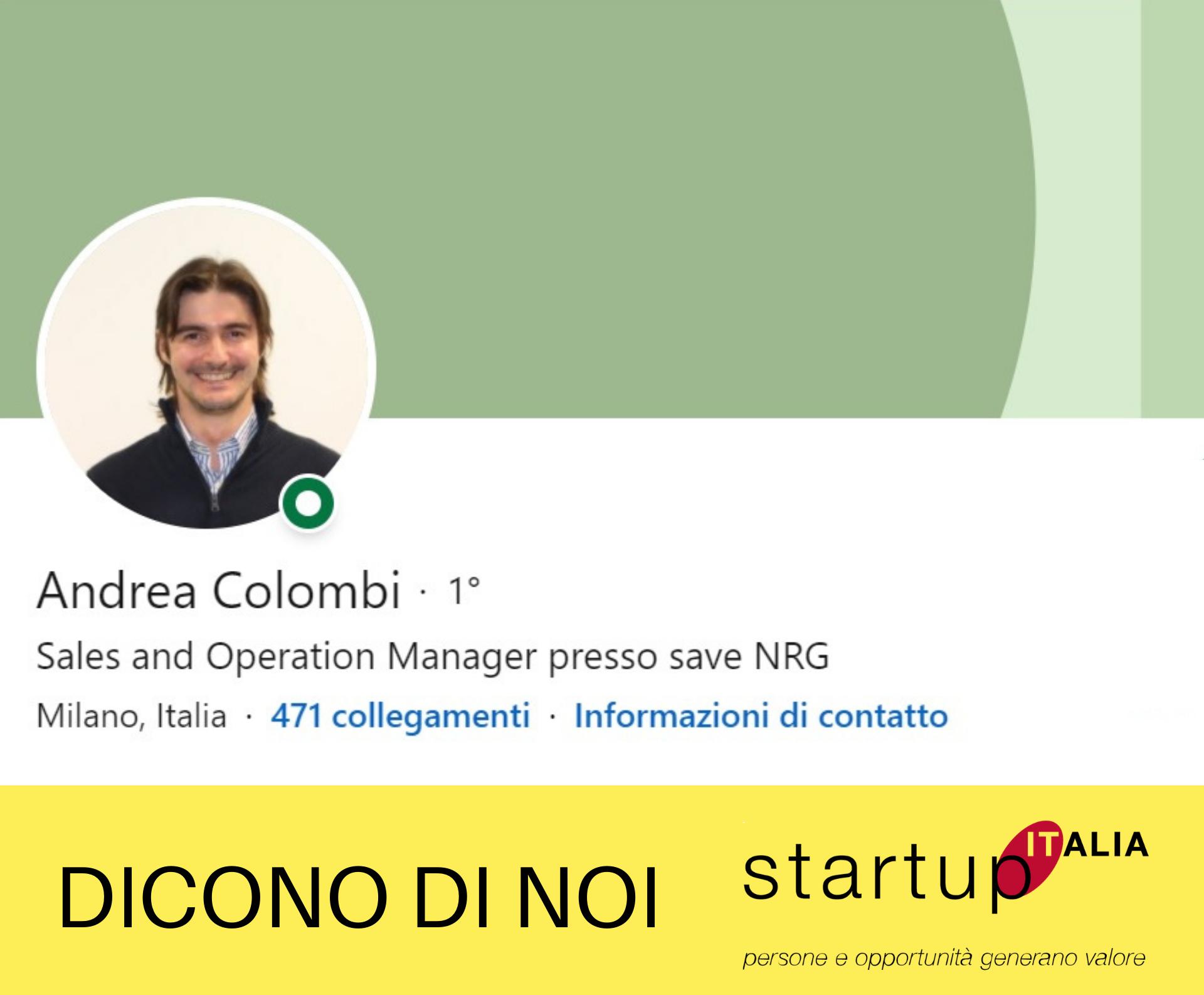 referenze Startup Italia - Andrea Colombi