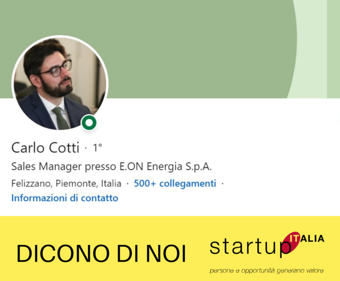 referenze Startup Italia - Carlo Cotti