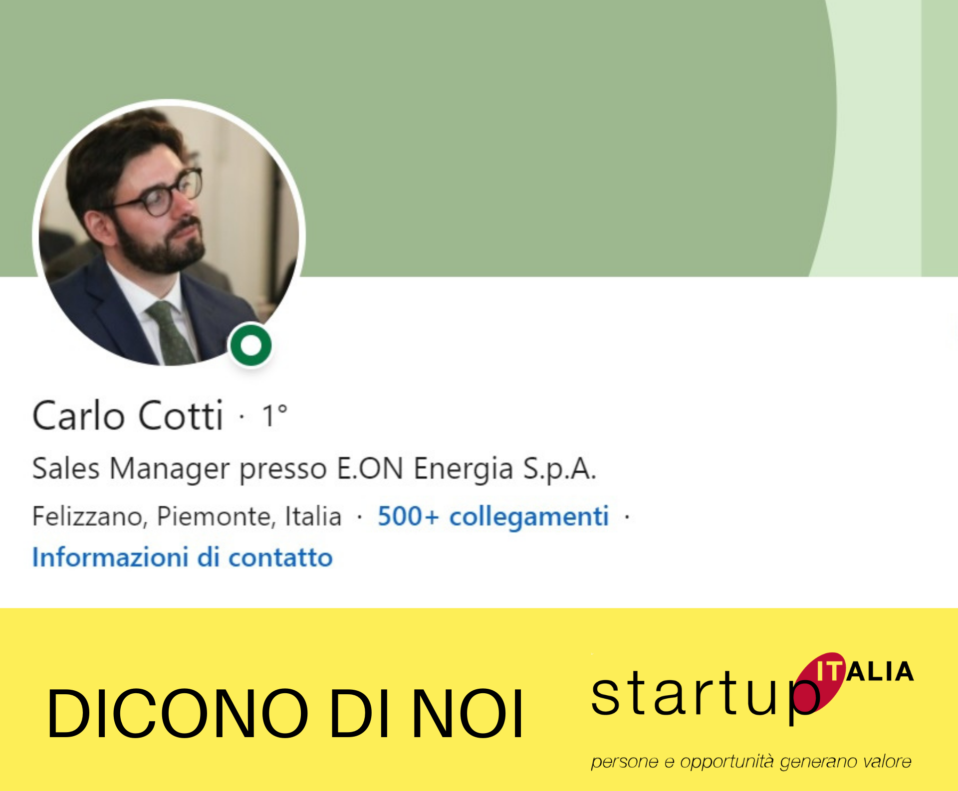 Carlo Cotti – District Manager per E.ON Energia
