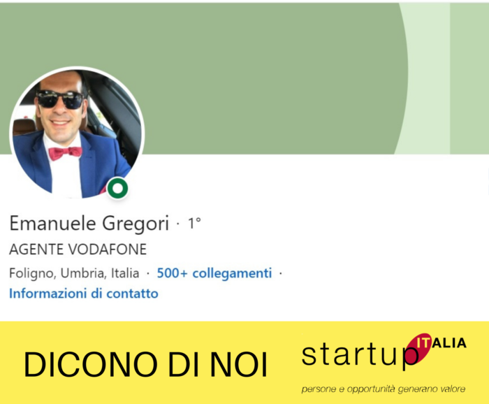 referenze Startup Italia - Emanuele Gregori