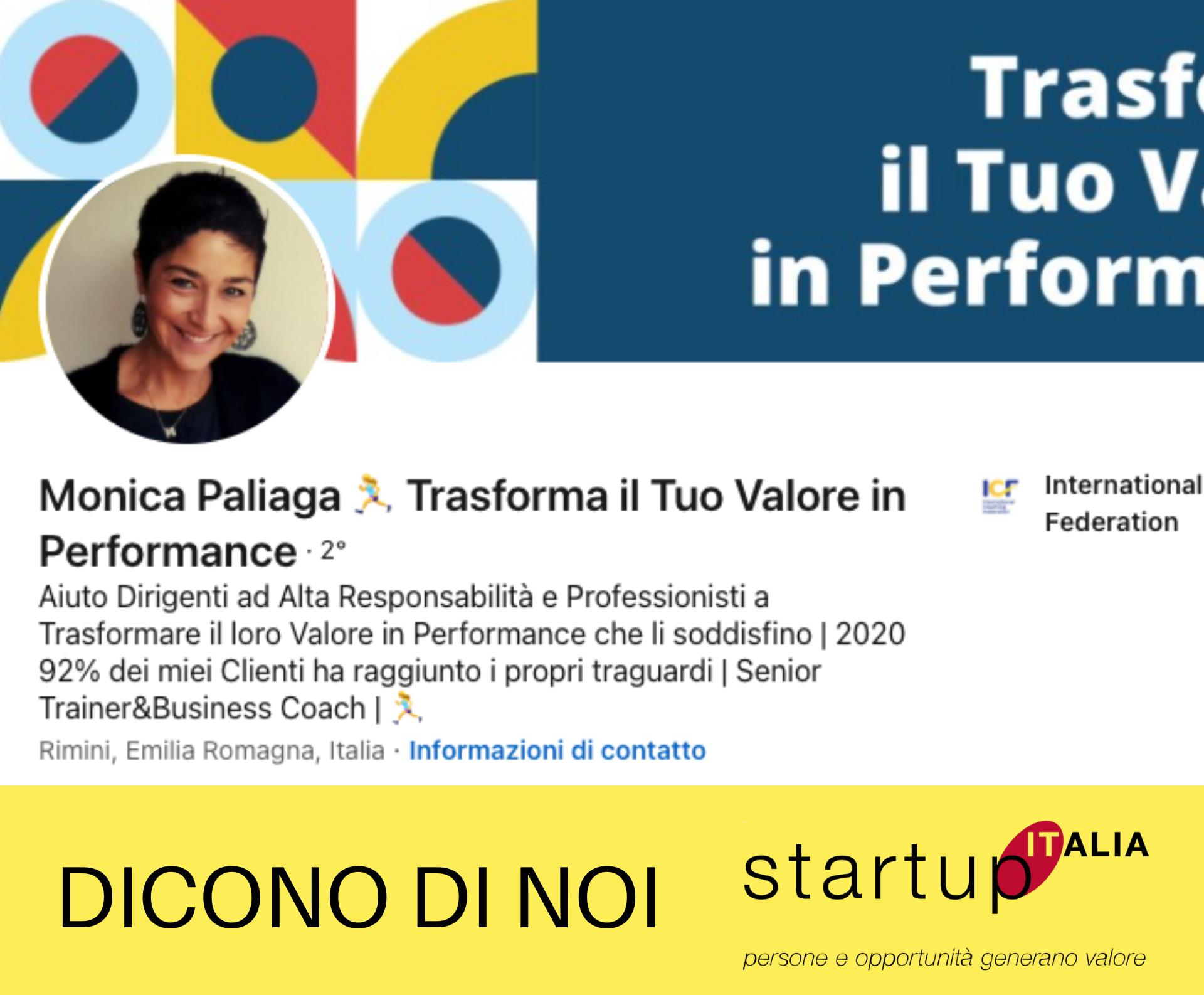 Monica Paliaga – Formazione e Coaching – Collaboratrice Start Up Italia